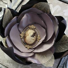 VICTORIAN LADY large singed satin and leaf by TheVictorianGarden, $26.00