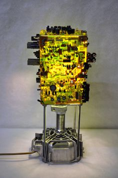 Japan lamp Upcycled circuit board lamp