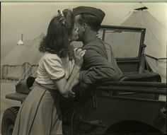 World War II - when girls were girls and men were men. People cared how they looked. Their was a sense of honor in the world and they truely were the greatest generation. I thank them for what they sacrificed. The veterans and also those here at home. At that time, everyone sacrificed.