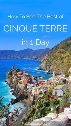 See the best of Italy's Cinque Terre with this one day itinerary #italy