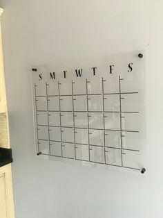"""My version of the DIY acrylic calendar. 30""""x36"""". Total cost $80."""