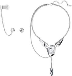 2b608eeb7c35 Jean Paul Gaultier interpreted the esthetics of  the perfect imperfection   as jewelry collection for Swarovski fig.   Reverse  pierced earrings and    ...