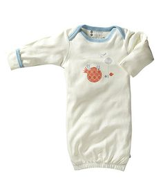 Love this White & Blue Deer Organic Gown - Infant by babysoy on #zulily! #zulilyfinds