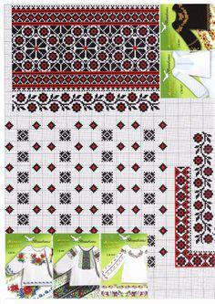 Gallery.ru / Фото #12 - Вишиті жіночі сорочки (схеми) - kolirbarvi Folk Embroidery, Cross Stitch Embroidery, Embroidery Patterns, Machine Embroidery, Cross Stitch Borders, Cross Stitching, Cross Stitch Patterns, Beading Patterns, Ukraine