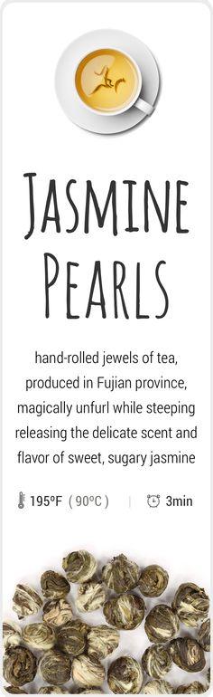 Farm-fresh, fragrant jasmine green tea from Fujian, China.