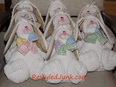 Chenille Bunnies and Chicks