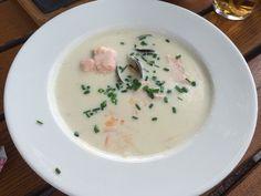 Café Skansen - Oslo, Norge. Fish soup