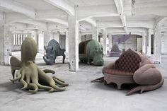 Family Portrait by Máximo Riera.  Octopus Chair, Rhino Chair, Hippo Chair, Whale Chair, Toad Sofa.