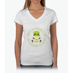 Happy St Patrick's Day- saint patrick day shirts Womens V-Neck T-Shirt