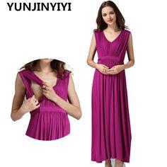 e94f63da435 YUNJINYIYI pregnancy clothes for Pregnant Women Long Maternity Dresses  Europe size Maternity Clothes pregnant Nursing Dress