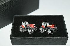 Red massey ferguson #tractor cufflinks-ideal gift #boxed! #wedding/farming enamel,  View more on the LINK: http://www.zeppy.io/product/gb/2/262355349129/
