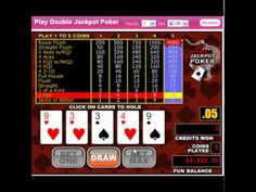 http://usvideopoker.com/ Get a $100 No deposit casino bonus @ http://www.slotsofvegas.eu/click/15/1212/4054/1     Double Double Bonus Poker has the same rules as the classic favorite Jacks or Better. However, Double Double Bonus Poker has a special paytable that adds an additional jackpot to wins when you spin a few different 4-of-a-kind combinati...