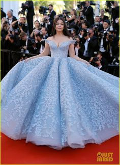 Aishwarya Rai wearing Michael Cinco Couture at the 2017 Cannes Film Festival in Cannes, France