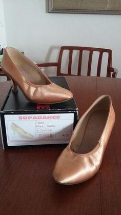 6703cd96125 Supadance Closed toe Ballroom dance shoe. Flesh Satin Style 1008 Size 4 1 2
