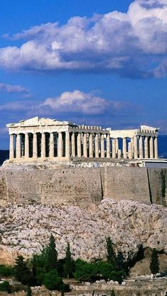 The Parthenon, Athens,Greece. Some of the most beautiful scenery I have ever seen. Places Around The World, The Places Youll Go, Places To See, Dream Vacations, Vacation Spots, Wonderful Places, Beautiful Places, Myconos, Kusadasi