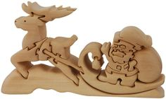 Santa in Sleight Wood toy