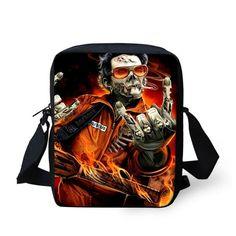 The Rocker Skull - Mini Messenger Bag – Nonesuch Treasures