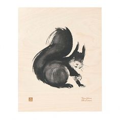Squirrel plywood poster