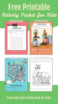 Free Cat Activity Sheets. Print off four wonderful cat related activity sheets today. These free printables are so cute and will delight! The post Free Cat Activity Sheet Printables appeared first on Red Ted Art - Make crafting with kids easy & fun. Animal Crafts For Kids, Dog Crafts, Paper Crafts For Kids, Easy Crafts For Kids, Cat Activity, Activity Sheets, Printable Crafts, Free Printables, Teaching Aids