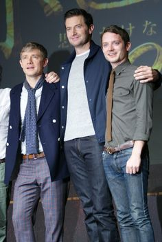 Martin Freeman, Richard Armitage, and Elijah Wood.