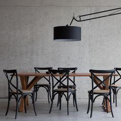 Rotan eetkamerstoelen berkenhout zwart