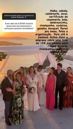 Valores para casamento na Grecia Gazebo, Santorini, Bouquet, Photo And Video, Instagram, Champagne, Couple, Greece, Pictures