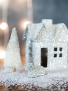 DIY: A Glittery Makeover for Holiday Decorations | HGTV >> http://www.hgtv.com/design/make-and-celebrate/holidays/give-old-holiday-decorations-an-easy-glittering-makeover?soc=pinterest