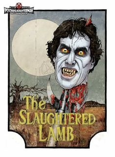 An American Werewolf In London Horror Icons, Horror Films, Horror Art, American Werewolf In London, Horror Monsters, Vampires And Werewolves, Halloween Painting, Movie Poster Art, Creature Feature