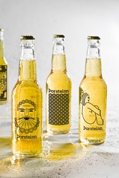 School project at the Iceland Academy of the Arts. We were to make a branding proposal for a microbrewery in Iceland and we decided to make 10 different bottle designs for the one and the same beer brand. The design could be placed on beer glasses as wel…