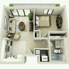 Tiny home floor plans tiny home layouts one bedroom floor plan collections tiny house layout layouts . tiny home floor plans Apartment Layout, 1 Bedroom Apartment, Apartment Design, Small Apartment Plans, Studio Apartment Floor Plans, Cosy Apartment, Apartment Checklist, Tiny House Layout, House Layout Plans