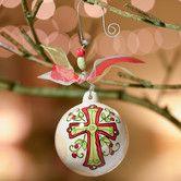 Found it at Wayfair - Cross Ball Ornament