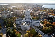We are so close to the Wisconsin State Capitol building that you can see us in this photo :) we are just two buildings to the right! Madison Wisconsin Hotel.