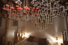 Installation Decorates Hotel Room With An Interactive Wooden Skyline | The Creators Project | SKO