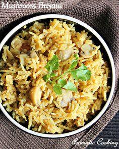 Aromatic+Cooking:+Mushroom+Briyani