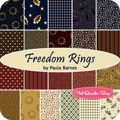 Freedom Rings Yardage Paula Barnes for Marcus Brothers Fabrics - Fat Quarter Shop
