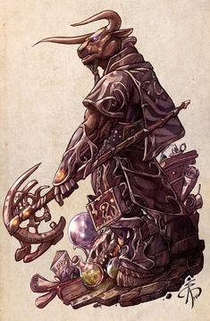 Minotaur Wizard by SergChayote on DeviantArt