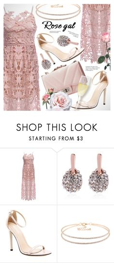 """ROSEGAL midi romantic lace dress"" by vn1ta ❤ liked on Polyvore"