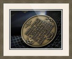 "Patek Philippe Geneve Commemorative Medal Coin // Paper: enhanced matte; Glazing: acrylic; Moulding: silver, ashley 1 1/2 mica; Top Mat: white/cream, gallery white; Middle Mat: blue, midnight; Bottom Mat: white/cream, topaz // Price starts at $167 (Petite: 20 7/8"" x 22 7/8""). // Customize at http://www.imagekind.com/Patek-Philippe-Geneve-PPG_art?IMID=02d2d878-c1ec-4135-b5f1-3c17e7a5ee8b"