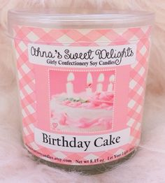 My Birthday Cake 🍰 Girly Confectionery Soy Candle is a very special treat that can be enjoyed any day you like, because..Its somebodys birthday, somewhere?, right? 😋 So, if you find sweet delight in pink frosting roses, and rich vanilla bean buttercream frosting, as much as I do,