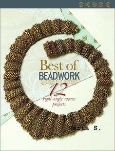 Best of Beadwork: 12 Right-Angle Weave Stitch Projects (eBook) - I LOVE RAW stitch, & I love Interweave books, so this must be an Awesome book! Seed Bead Necklace, Seed Bead Jewelry, Seed Beads, Beaded Jewelry, Beaded Necklaces, Bead Earrings, Boho Jewelry, Jewelry Crafts, Jewelry Ideas