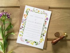 Check out our invitations selection for the very best in unique or custom, handmade pieces from our shops. Amy Spencer, Save The Date, Big Day, Rsvp, Compliments, Envelope, How To Find Out, Wedding Invitations, Dahlia