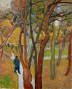 The garden of Saint Paul's Hospital (`The fall of the leaves') - Vincent van Gogh — Google Arts & Culture