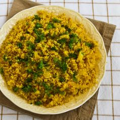 Kalyn's Kitchen®: Recipe for Whole Wheat Couscous with Saffron and Onions