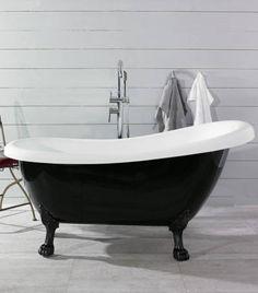 Tassuamme Noro Old England 1560x720x640/790 mm valkoinen/musta/mustat tassut
