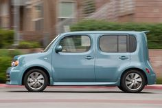 most embarrassing cars, last 10 years: Nissan Cube.  Say what you want about Nissan's Cube, but the one thing you can't hold against the company is that it nailed the name for this car. Nissan tried to bring the distinctly Japanese styling to the States, but the vehicle just wasn't met with the same warmth that it got from its domestic market. Participants were not feeling particularly warm toward it either, and it scored a 3.6 on the scale.