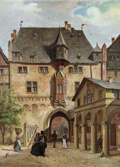 Fahrtor. Toranlage der frankfurter Stadtbefestigung. Erbaut zwischen 1456 und 1460. Heute nicht mehr erhalten. http://upload.wikimedia.org/wikipedia/commons/c/cc/Frankfurt_Fahrtor_vor_1840.jpg