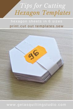Do you need NOW some hexagon templates for English paper piecing? Click through to learn a few tips for quickly cutting hexagon templates and download printable hexagons in various sizes.
