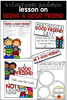A classroom guidance lesson on how to be a good friend. Elementary School Counselor, Elementary Schools, Social Emotional Learning, Social Skills, Social Work, Friendship Lessons, Friendship Group, Character Education Lessons, Palmas