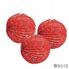 Red Bandana Party Lanterns $15/dozen