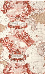 Replete with water deities and sepia tones, this wallpaper is so going onto the walls of my library    Planishpere in Persimmon by Pierre Frey Paris     http://www.pierrefrey.com/uk/produit/papiers-peints/117-FP198002-planisphere.htm#